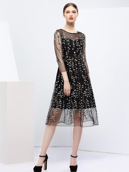 2018艺梦来女装连衣裙两件套