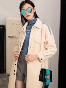 2018布根香女装冬新款米色外套