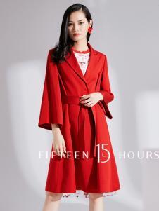 15小时2018时尚红色外套