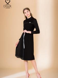 2018DISIR迪丝爱尔黑色连衣裙