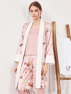 tincoco女式粉色印花家居服