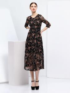 2018艺梦来女装时尚印花裙