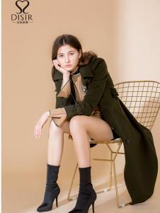 2018迪丝爱尔长款时尚外套