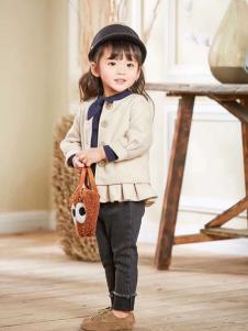 晗与熙童装米白色时尚外套