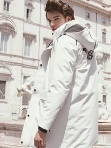 VISENIYA白色休闲棉衣