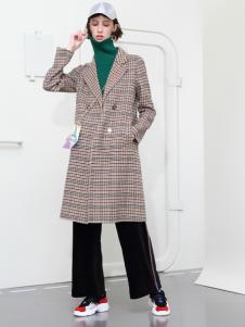 2018betu百图女装格子大衣