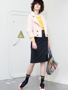 2018betu百图女装白色短款外套