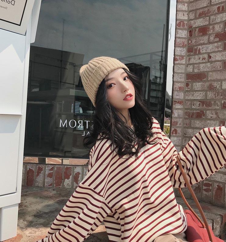 韩版秋冬女式打底羊毛衫批发