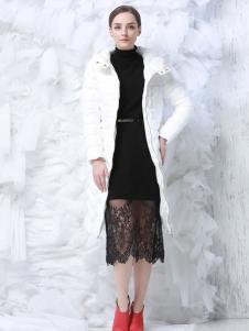 DerliGalam白色长款羽绒服