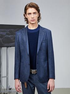 AEX男装蓝色时尚商务套装