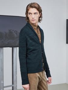 AEX男装墨绿色休闲外套