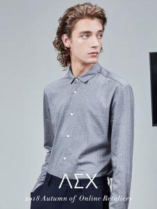 AEX男装灰色休闲衬衫