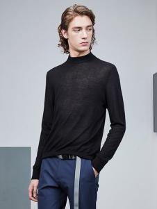 AEX男装黑色针织T恤
