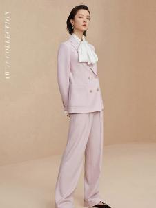 OVV女装粉色时尚西装套装
