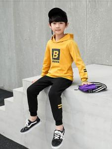 CX童装黄色时尚卫衣
