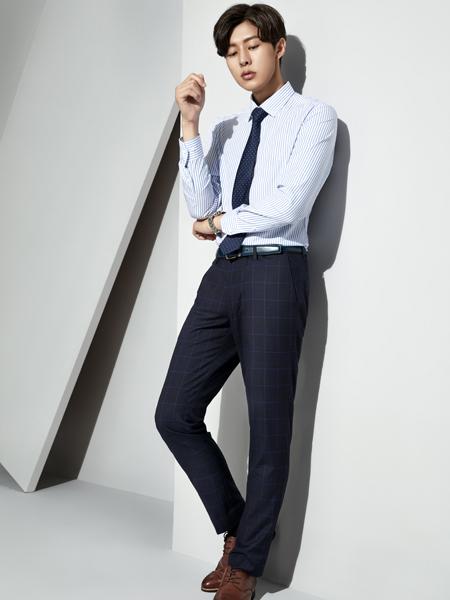 职业门商务装新款浅蓝色衬衫
