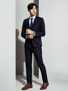 职业门男装职业门商务装新款黑色西服套装
