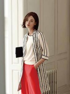 umisky女装白黑条纹外套