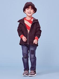 2018可米芽男童黑色外套