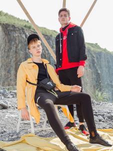 BZE男装黄色时尚外套