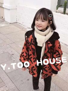 梦想号童装红色字母外套