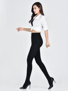 诗曼芬新款女士黑色打底裤