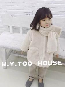 梦想号童装米白色休闲外套