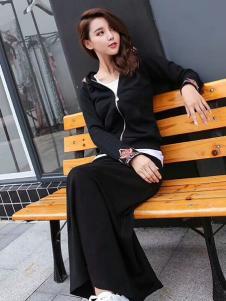 雨珊女装优雅黑色套装裙