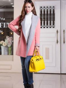 艾菲顿女装粉色休闲大衣