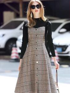 雨珊女装秋冬连衣裙时尚两件套
