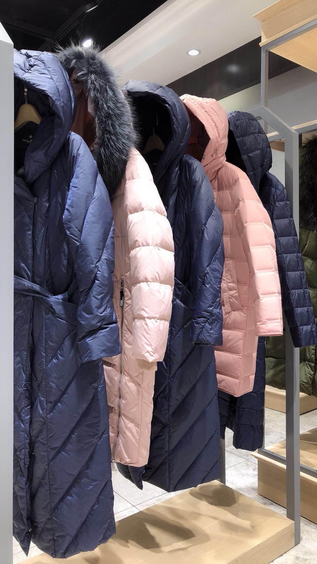 羽芮品牌折扣女装时尚羽绒服一手货源批发