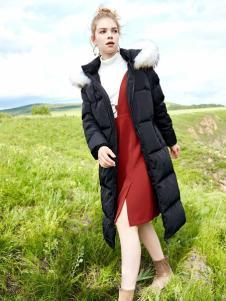 YOSUM衣诗漫冬季黑色羽绒服