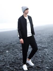 woog2005男装黑色休闲外套