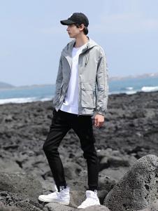 woog2005男装灰色休闲外套