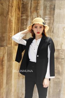 帝伦奴那女装黑色西装外套