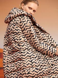 ZAIN女装豹纹棉衣