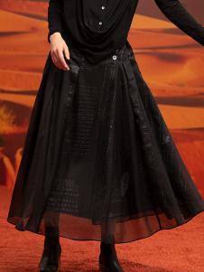 ZAIN女装黑色网纱半身裙