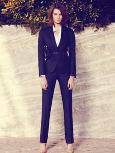 法颂蓝女式黑色休闲西装套装