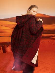 ZAIN女装红色时尚大衣