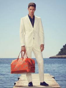 法颂蓝男装白色商务西装套装