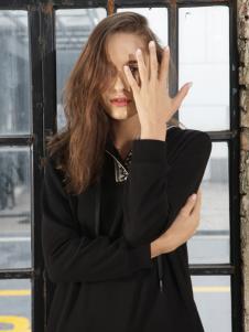 子容秋冬新款黑色卫衣