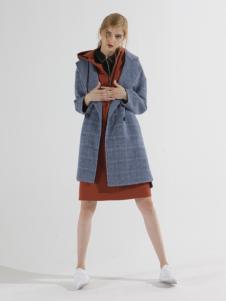 子容秋冬新款纯色毛呢外套