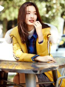 XYING香影秋冬新款黄色羽绒服
