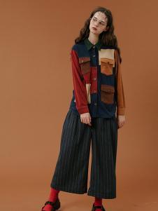 塔卡沙女装时尚拼接衬衫