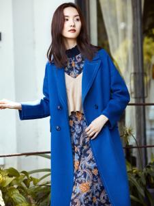 XYING香影秋冬新款蓝色大衣