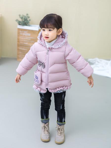 淘淘猫冬季新款浅紫色羽绒服