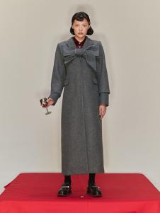 SHUSHU/TONG 女装灰色休闲大衣