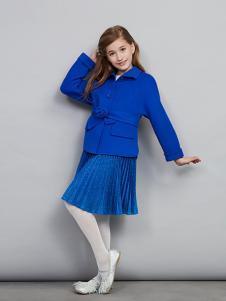 爱安玖童装深蓝色休闲外套