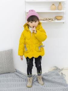 淘淘猫冬季新款黄色羽绒服