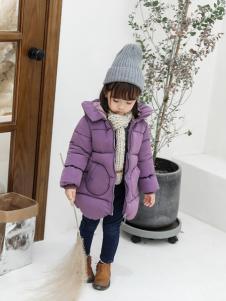 淘淘猫冬季新款紫色羽绒服